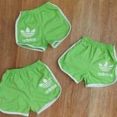 4 цвета Детские шорты Адидас зеленые, розовые, синие, желтые