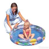 Bestway Бассейн детский надувной прозрачный Морской мир