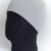 Мужская шапка с отворотом  Кубик - 3 цвета
