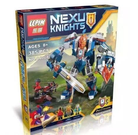 Конструктор lepin серия nexu knights 14008 королевский мех (аналог lego nexo knights 70327) фото №1