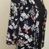 Шифоновый пиджак с принтом