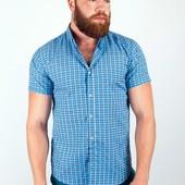 Рубашка летняя в клетку №36F007 4 цвета