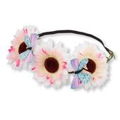 Повязочка-ободок для девочки с объемными цветами и бабочками Childrens Place из Америки