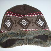 шапка деми евро-зима на 6-12 мес
