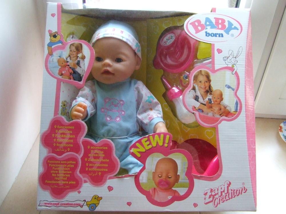Кукла-пупс беби борн на 9 функций с магнитной соской. разные виды. фото №1