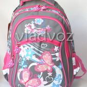 Школьный рюкзак для девочек ортопедический серый