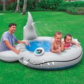 Детский надувной бассейн акула 57433 Intex 159 л.