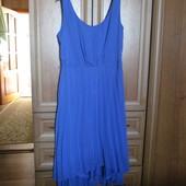 Красивенное платье с юбкой плиссе разм 46-48