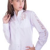 Белоснежная школьная блуза Далила
