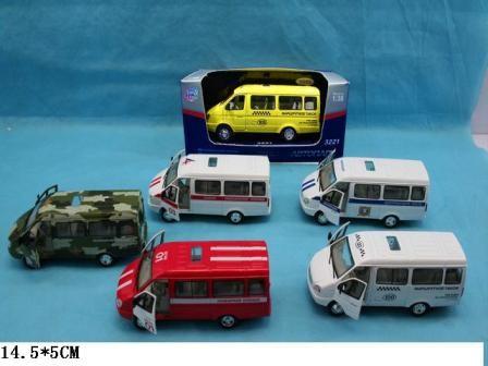 Модель автобус  6203 (3221) метал.инерц.6в.кор.19*8*8 фото №1