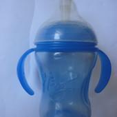 Бутылка Nuby (трубочка силиконовая)  от 1 до 3 лет