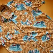 Хлопковая рубашка Pharaoh Mens Collections с гавайским принтом