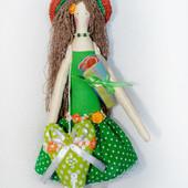 Кукла в стиле тильда Пляжница