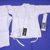 Кимоно детское для карате айкидо дзюдо белое  Matsа 110см 120см 130см 140см 150см 160см 170 см