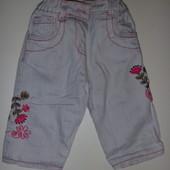 красивые джинсы на подкладке на 3-6 мес