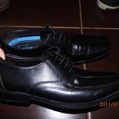 фирменные кожаные туфли 40 р UK 7 George