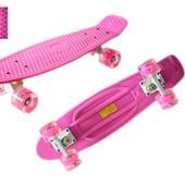 Скейтборд Penny 4 Light светящмеся колеса (до 80кг.) 4 цвета