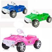 Каталка машина педальная синяя/зеленая/розовая/красная/черная Орион 792