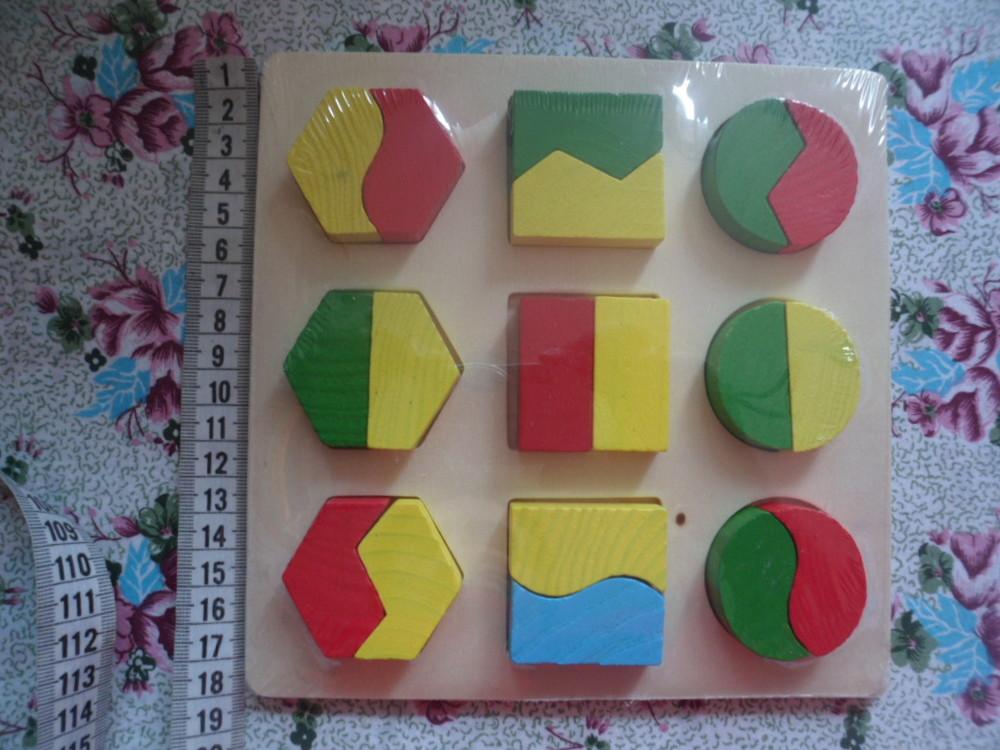Деревянная игра геометрика фото №1