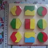 деревянная игра геометрика
