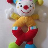 Мягкая погремушка Клоун Fehn