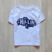 Новая футболка для маленького модника. F&F. Размер 0-3 месяца