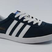 Adidas Gazelle мужские кеды мутно-синего цвета