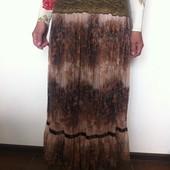 Длинная юбка-сетка