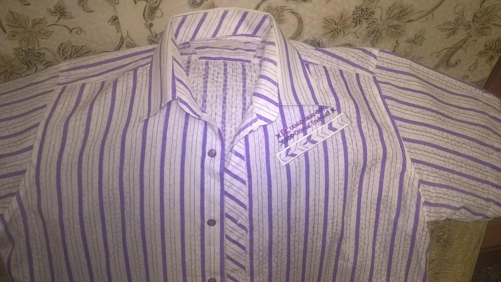 Стильная мужская рубашка  c коротким рукавом (р.50)-100%. cotton. фото №1
