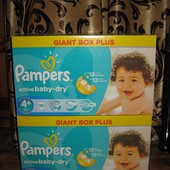 Pampers Active baby 4+ Giant box plus 9-16 кг 96 шт Эконом коробка!