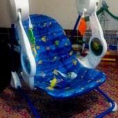 Кресло-качалка, шезлонг, качеля Fisher-Price + подарок