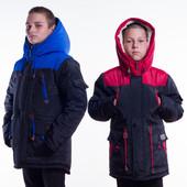 Зимняя парка на овчине для мальчика 134-170р.