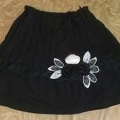 Черная нарядная юбка школьная