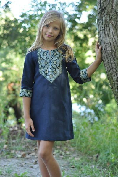 сукня для дівчинки з оригінальною вишивкою фото №1