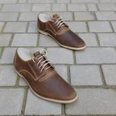 Туфли из натур. кожи с перфорацией Van Kristi, р. 39-45, код gavk-10145