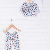 Распродажа - Комплект для новорожденного кофта, ползунки, шапочка от Baby Art комплект в роддом