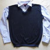 свитер-рубашка жилетка - рубашка