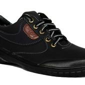 Мужские осенние мокасины - туфли черные РТ 20Ч