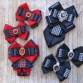 Банты и галстук брошь в школу и на каждый день. В наличии!