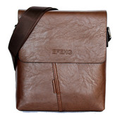 Мужская модная сумка коричневая Е 54162