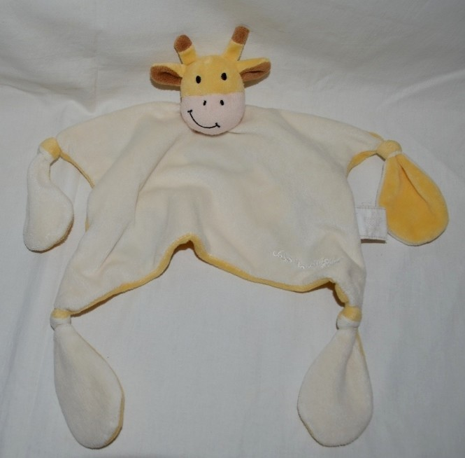 Фирменный комфортер полотенечко салфетка игрушка жираф слюновпитывающее мягкое фото №1