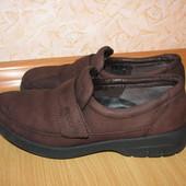 Ecco туфли мокасины нубук 41р по вст 27 см очень легкие на шырокую ногу