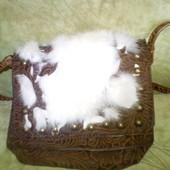 Кожаная сумка с мехом Mascotte.