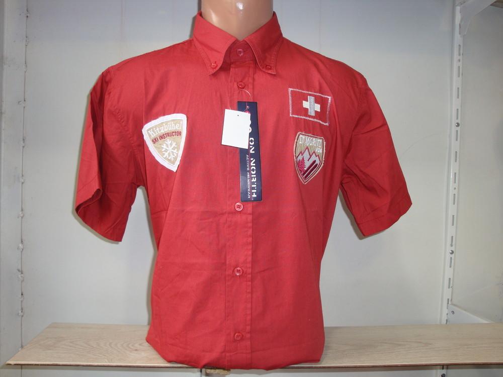 Распродажа! Мужская рубашка с коротким рукавом Vancouver Ski. Разные цвета. фото №1