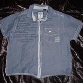 Крутая рубашка Next джинсовая на 4-5 лет