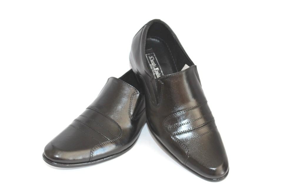 Мужские туфли классические, натуральная кожа фото №1