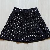 Трикотажная юбка в горох для девочки. Размер 11-12 лет. Состояние: новой вещи