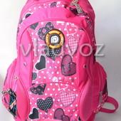 Школьный рюкзак ортопедический для девочек розовый DFW