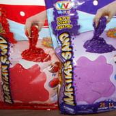 Кинетический песок с блеском 0,5 кг в наличии 1 цвет фиолетовый.