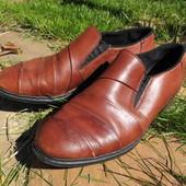 Rieker. Кожаные весенние туфли, стелька 24 см